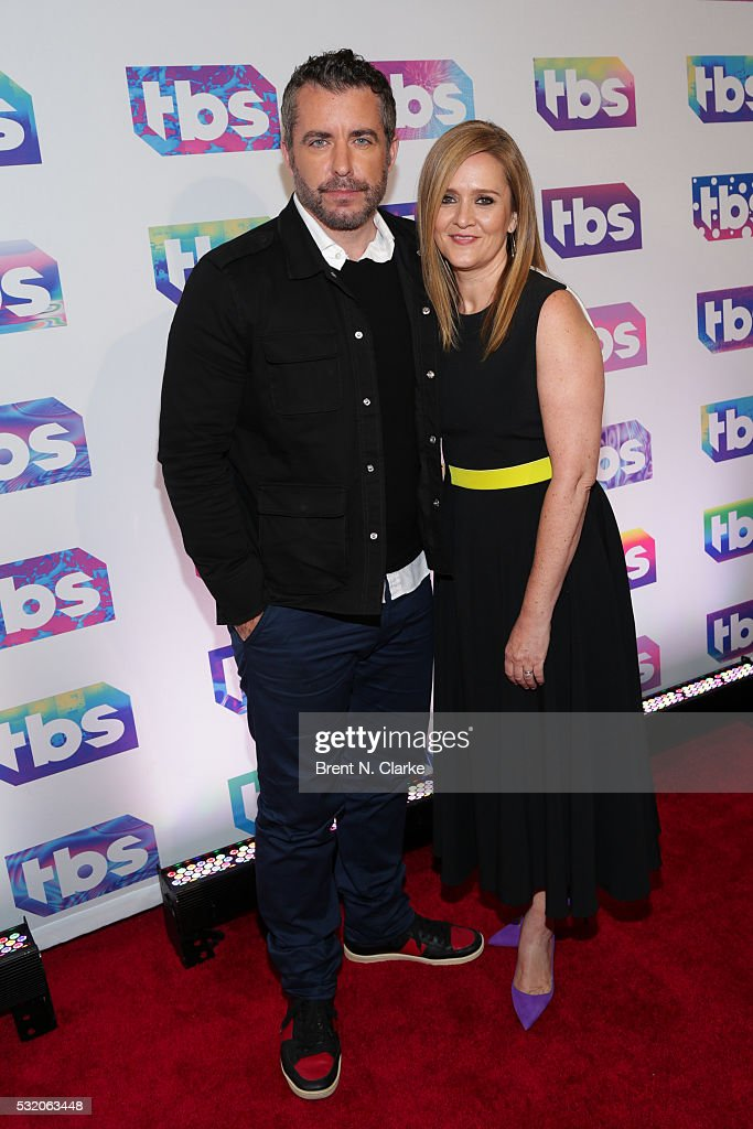 Actors/Comedians Jason Jones and Samantha Bee attend TBS's A Night Out with Conan O'Brien Rashida Jones Samantha Bee Jason Jones held at The New...