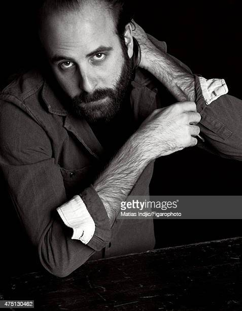 Actor/screenwriter Vincent Macaigne is photographed for Madame Figaro on January 17 2015 in Paris France Makeup by Givenchy Le Make Up PUBLISHED...