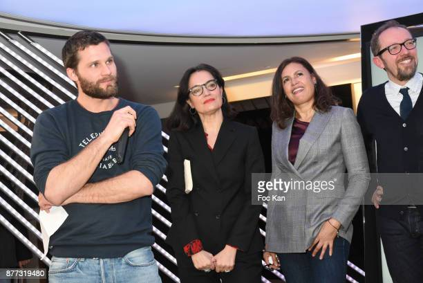 Actor/screenwriter/director/ Alexis Michalik lawyer Sophie Obadia and Singer/actress Viktor Lazlo attend the 'Le Prix Du Style 2017' Literary awards...