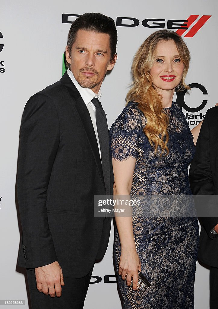 Actors/honorees Ethan Hawke and Julie Delpy arrive at the 17th Annual Hollywood Film Awards at The Beverly Hilton Hotel on October 21, 2013 in Beverly Hills, California.