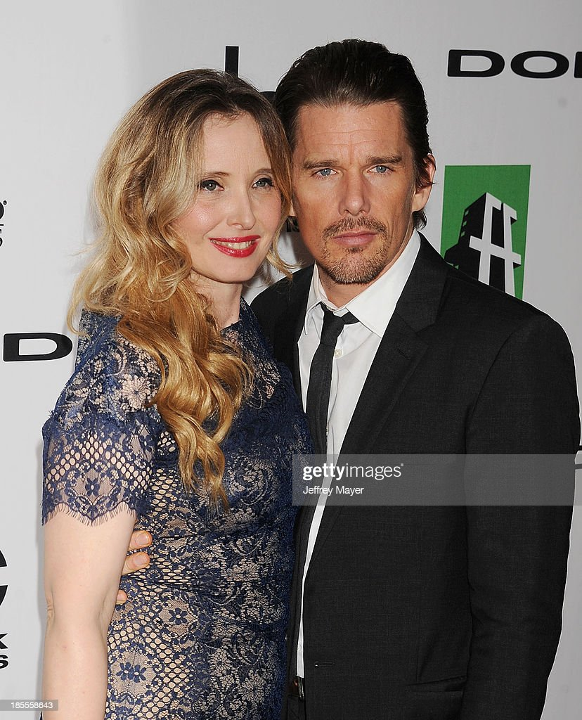 Actors/honorees Julie Delpy and Ethan Hawke arrive at the 17th Annual Hollywood Film Awards at The Beverly Hilton Hotel on October 21, 2013 in Beverly Hills, California.