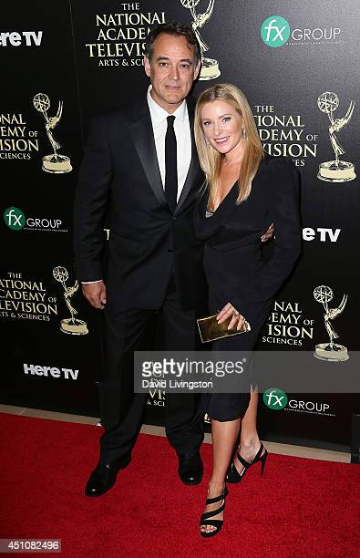 Actors/husband and wife Jon Lindstrom and Cady McClain attend the 41st Annual Daytime Emmy Awards at The Beverly Hilton Hotel on June 22 2014 in...