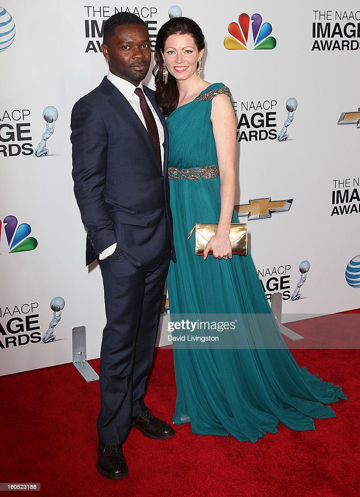 Actors/husband & wife David Oyelowo (L) and Jessica Oyelowo attend the 44th NAACP Image Awards at the Shrine Auditorium on February 1, 2013 in Los Angeles, California.