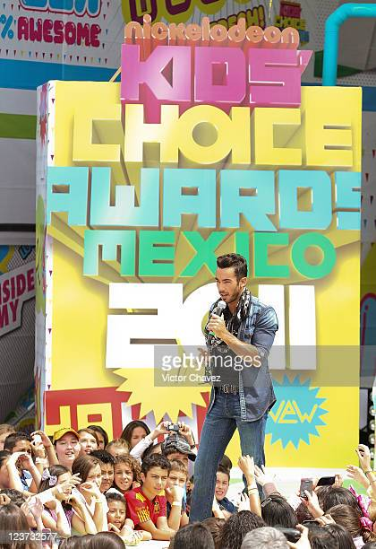 Actor/singer Aarón Díaz attends the 2011 Kids Choice Awards Mexico at Six Flags Mexico on September 3 2011 in Mexico City Mexico
