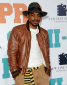 Actor/singer Andre Benjamin arrives at the Los Angeles Premiere 'SemiPro' at the Mann Village Theater on February 19 2008 in Westwood California