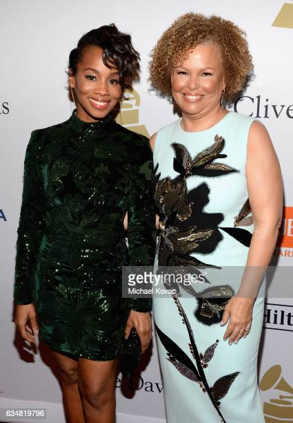 Actorsinger Anika Noni Rose and honoree Debra L Lee attend PreGRAMMY Gala and Salute to Industry Icons Honoring Debra Lee at The Beverly Hilton on...