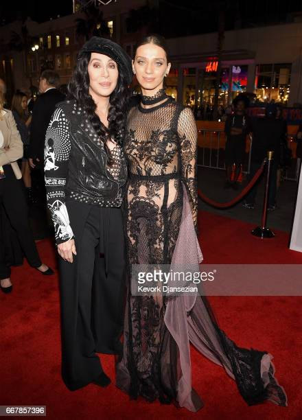 Actor/singer Cher and actor Angela Sarafyan attend the premiere of Open Road Films' 'The Promise' at TCL Chinese Theatre on April 12 2017 in...