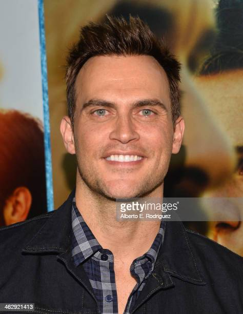 Actor/singer Cheyenne Jackson arrives to the premiere of HBO's 'Looking' at Paramount Theater on the Paramount Studios lot on January 15 2014 in...