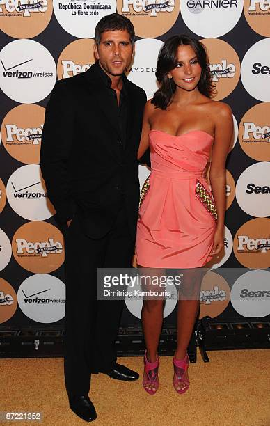 Actor/singer Christian Meier and actress Genesis Rodriguez attend People En Espanol's '50 Most Beautiful' event at The Edison Ballroom on May 13 2009...