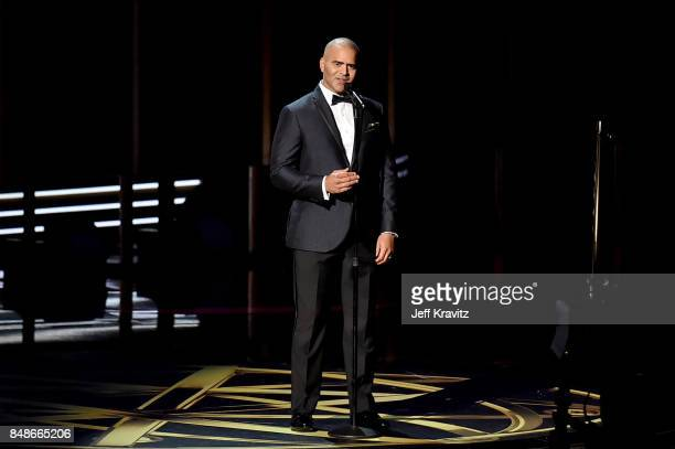 Actor/singer Christopher Jackson performs onstage during the 69th Annual Primetime Emmy Awards at Microsoft Theater on September 17 2017 in Los...