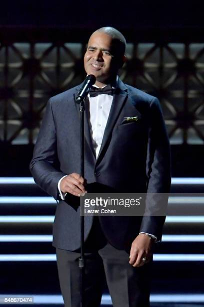 Actorsinger Christopher Jackson performs onstage during the 69th Annual Primetime Emmy Awards at Microsoft Theater on September 17 2017 in Los...