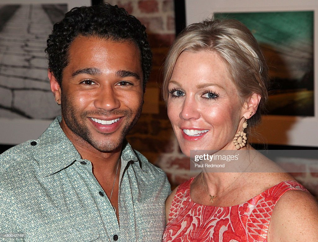 Actor/singer Corbin Bleu and actress Jennie Garth attend the 'Jennie Garth Awake' opening night artist reception at Project Gallery on April 5 2014...