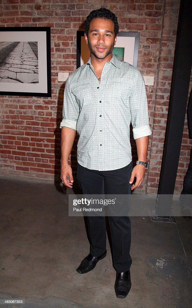 Actor/singer <a gi-track='captionPersonalityLinkClicked' href=/galleries/search?phrase=Corbin+Bleu&family=editorial&specificpeople=651888 ng-click='$event.stopPropagation()'>Corbin Bleu</a> attending the 'Jennie Garth: Awake' opening night artist reception at Project Gallery on April 5, 2014 in Hollywood, California.