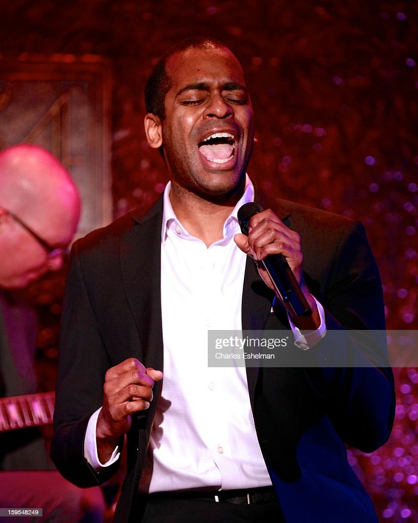 Actor/singer <a gi-track='captionPersonalityLinkClicked' href=/galleries/search?phrase=Daniel+Breaker&family=editorial&specificpeople=712417 ng-click='$event.stopPropagation()'>Daniel Breaker</a> performs at 54 Below on January 15, 2013 in New York City.
