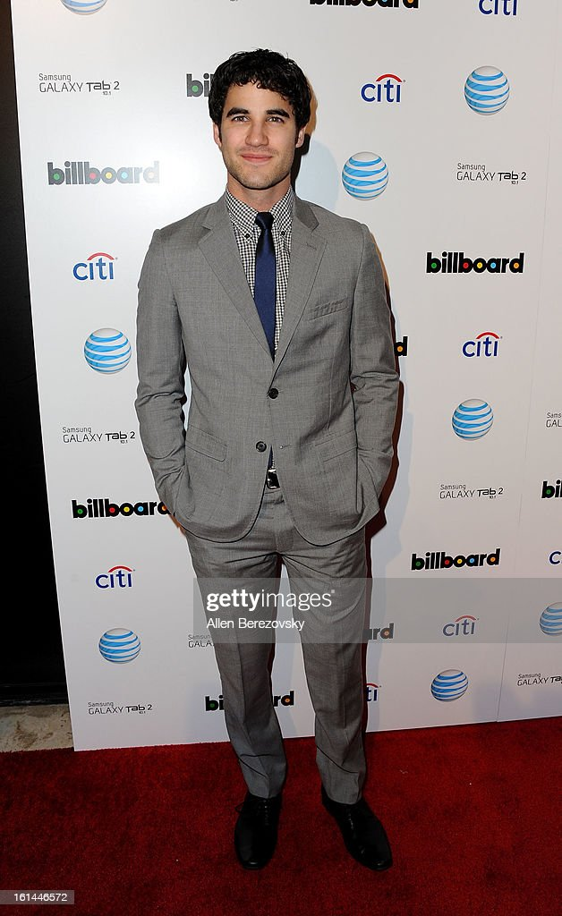 Actor/singer Darren Criss attends the Billboard GRAMMY after party presented by Citi at The London Hotel on February 10, 2013 in West Hollywood, California.