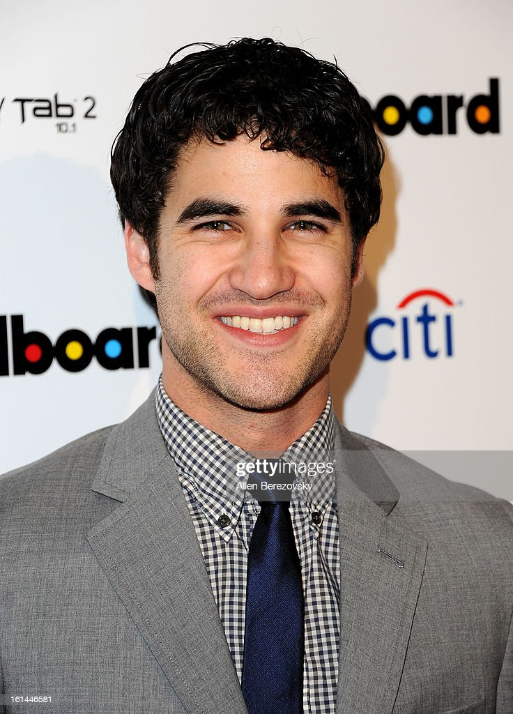 Actor/singer <a gi-track='captionPersonalityLinkClicked' href=/galleries/search?phrase=Darren+Criss&family=editorial&specificpeople=7341435 ng-click='$event.stopPropagation()'>Darren Criss</a> attends the Billboard GRAMMY after party presented by Citi at The London Hotel on February 10, 2013 in West Hollywood, California.