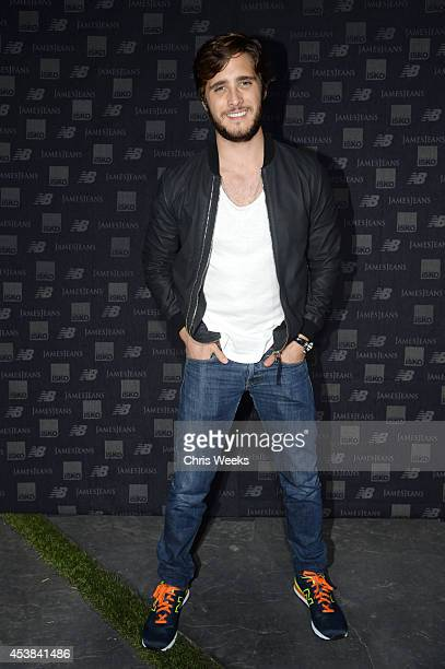 Actor/singer Diego Boneta attends a dance party with New Balance and James Jeans powered by ISKO at the home of Pascal Mouwad on August 19 2014 in...