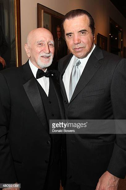 Actor/singer Dominic Chianese and Lifetime Achievement Award recipient actor Chazz Palminteri attend the Table 4 Writers Foundation Second Annual...
