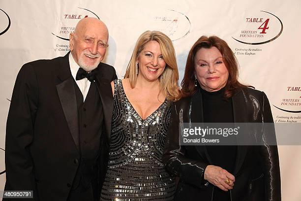 Actor/singer Dominic Chianese Table 4 Writers Foundation Chair Jenine Lepera Izzi and actress Marsha Mason attend the Table 4 Writers Foundation...