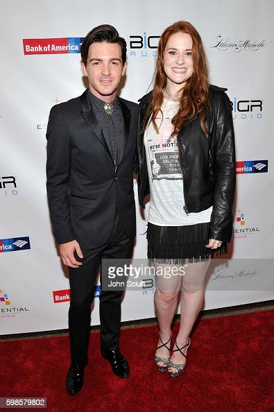 Actor/singer Drake Bell and singer/songwriter Laura Michelle attend the album release party for Laura Michelle's 'Novel With No End' at El Rey...