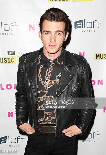 Actor/singer Drake Bell attends NYLON x Aloft Hotels celebrate The Music Issue with cover star HAIM on May 26 2014 in Los Angeles California