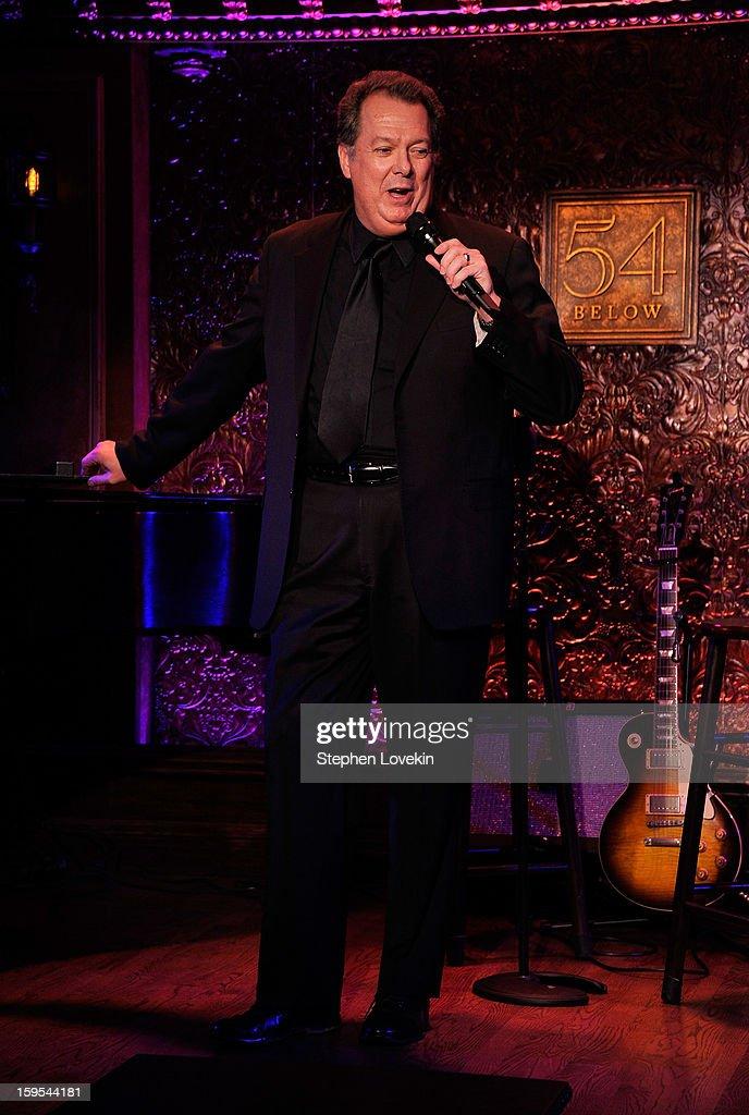 Actor/singer Eric Michael Gillett performs at a special press preview at 54 Below on January 15, 2013 in New York City.