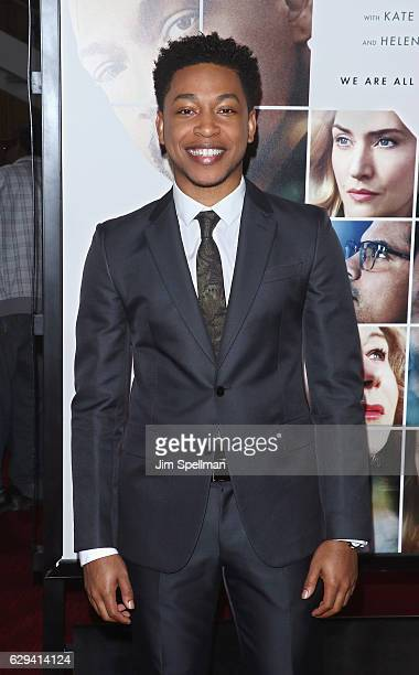 Actor/singer Jacob Latimore attends the 'Collateral Beauty' world premiere at Frederick P Rose Hall Jazz at Lincoln Center on December 12 2016 in New...