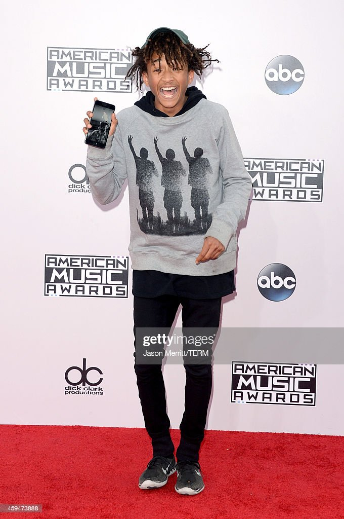 Actor-singer <a gi-track='captionPersonalityLinkClicked' href=/galleries/search?phrase=Jaden+Smith&family=editorial&specificpeople=709174 ng-click='$event.stopPropagation()'>Jaden Smith</a> attends the 2014 American Music Awards at Nokia Theatre L.A. Live on November 23, 2014 in Los Angeles, California.