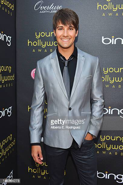 Actor/singer James Maslow arrives at 14th Annual Young Hollywood Awards presented by Bing at Hollywood Athletic Club on June 14 2012 in Hollywood...