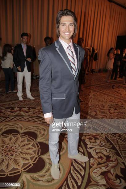 Actor/singer James Maslow attends the 17th Annual Race to Erase MS event cochaired by Nancy Davis and Tommy Hilfiger at the Hyatt Regency Century...