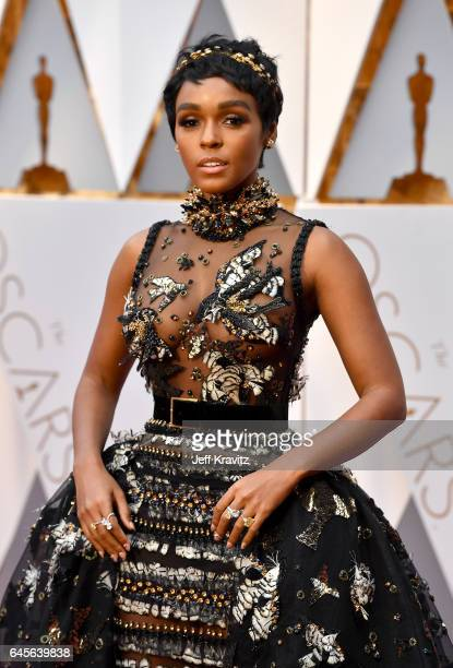 Actor/singer Janelle Monae attends the 89th Annual Academy Awards at Hollywood Highland Center on February 26 2017 in Hollywood California