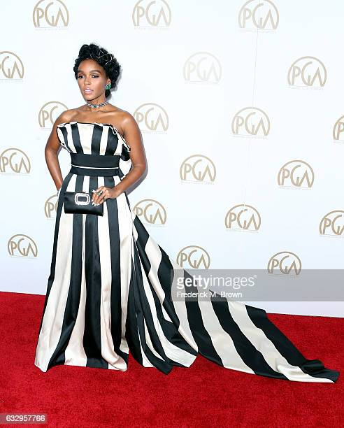 Actor/singer Janelle Monáe attends the 28th Annual Producers Guild Awards at The Beverly Hilton Hotel on January 28 2017 in Beverly Hills California