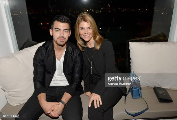 Actor/singer Joe Jonas and actress Lori Loughlin attend Cotton Incorporated's Blue Jeans Go Green celebrates 1 million pieces of denim collected for...