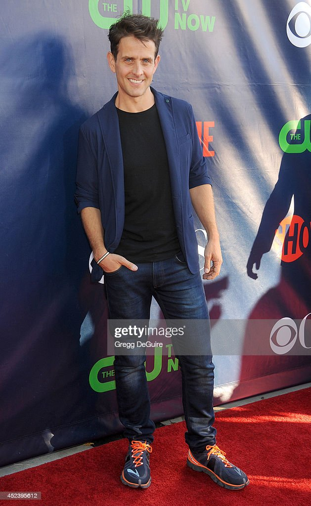 Actor/singer <a gi-track='captionPersonalityLinkClicked' href=/galleries/search?phrase=Joey+McIntyre&family=editorial&specificpeople=650190 ng-click='$event.stopPropagation()'>Joey McIntyre</a> arrives at the 2014 Television Critics Association Summer Press Tour - CBS, CW And Showtime Party at Pacific Design Center on July 17, 2014 in West Hollywood, California.