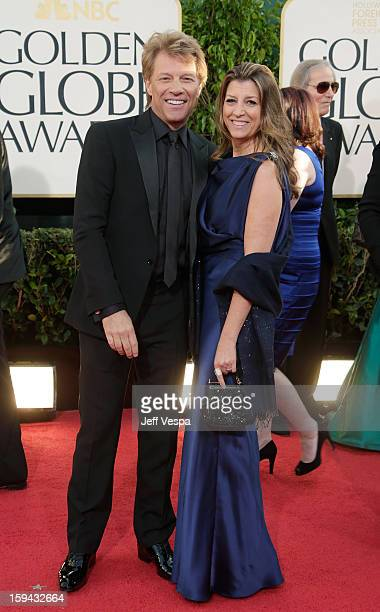 Actorsinger Jon Bon Jovi and wife Dorothea Hurley arrive at the 70th Annual Golden Globe Awards held at The Beverly Hilton Hotel on January 13 2013...