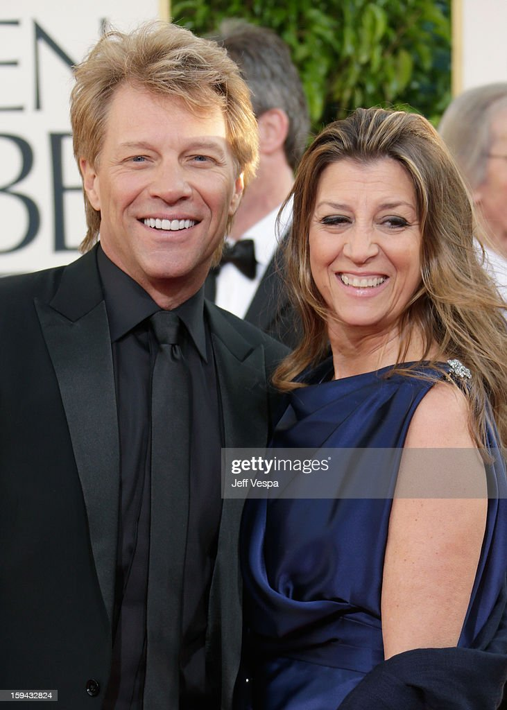Actor-singer Jon Bon Jovi and wife Dorothea Hurley arrive at the 70th Annual Golden Globe Awards held at The Beverly Hilton Hotel on January 13, 2013 in Beverly Hills, California.