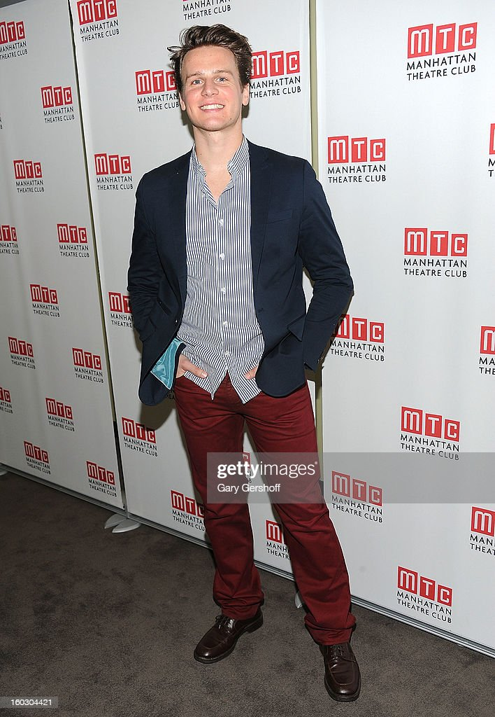 Actor/singer <a gi-track='captionPersonalityLinkClicked' href=/galleries/search?phrase=Jonathan+Groff+-+Actor&family=editorial&specificpeople=2994250 ng-click='$event.stopPropagation()'>Jonathan Groff</a> attends the 2012 Manhattan Theatre Club Benefit: An Intimate Night at Jazz at Lincoln Center on January 28, 2013 in New York City.