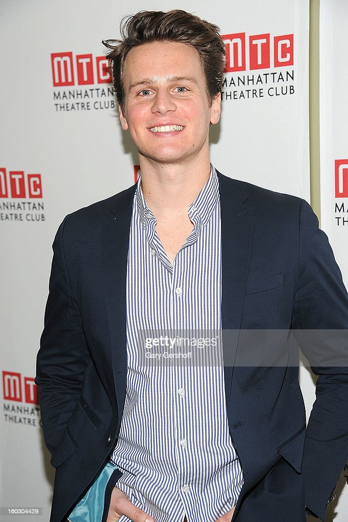 Actor/singer <a gi-track='captionPersonalityLinkClicked' href=/galleries/search?phrase=Jonathan+Groff&family=editorial&specificpeople=2994250 ng-click='$event.stopPropagation()'>Jonathan Groff</a> attends the 2012 Manhattan Theatre Club Benefit: An Intimate Night at Jazz at Lincoln Center on January 28, 2013 in New York City.