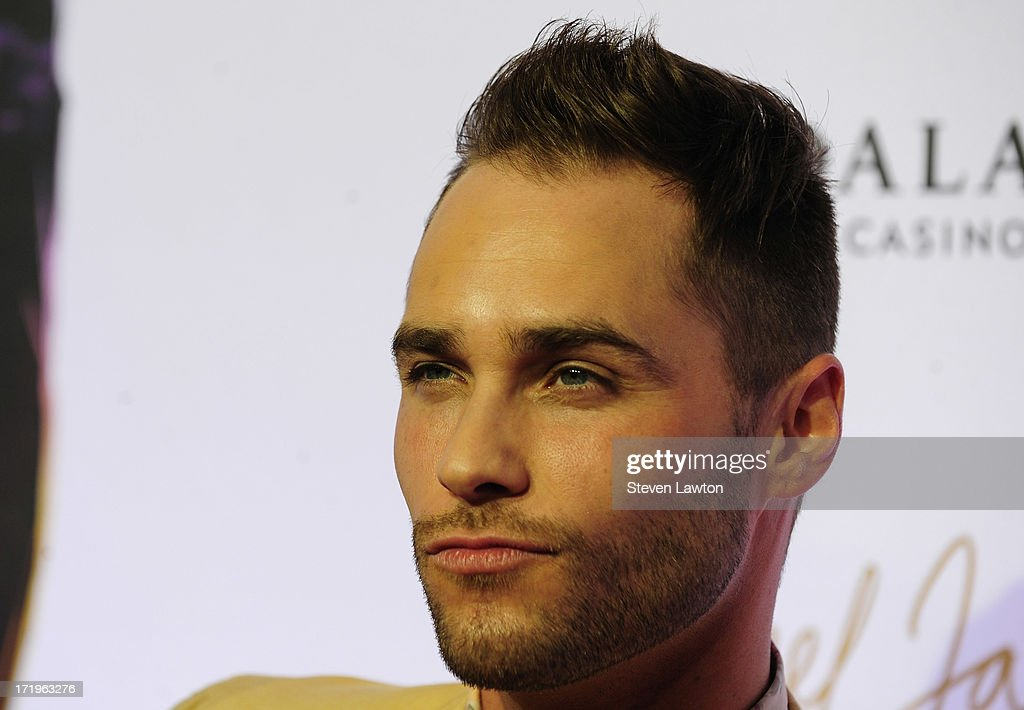 Actor/singer <a gi-track='captionPersonalityLinkClicked' href=/galleries/search?phrase=Josh+Strickland&family=editorial&specificpeople=542117 ng-click='$event.stopPropagation()'>Josh Strickland</a> arrives at the world premiere of 'Michael Jackson ONE by Cirque du Soleil' at THEhotel at Mandalay Bay on June 29, 2013 in Las Vegas, Nevada.