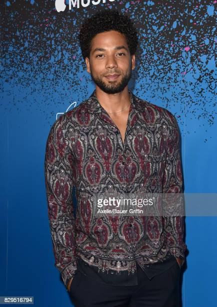 Actor/singer Jussie Smollett arrives at 'Carpool Karaoke The Series' On Apple Music Launch Party at Chateau Marmont on August 7 2017 in Los Angeles...