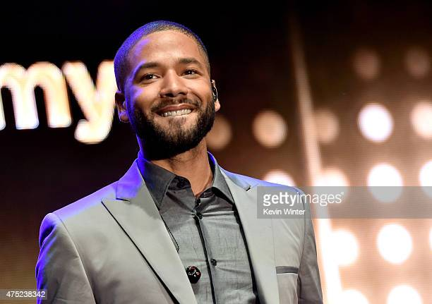 Actor/singer Jussie Smollett performs at the Television Academy event for Fox Tv's 'Empire' A Performance Under The Stars at The Grove on May 28 2015...