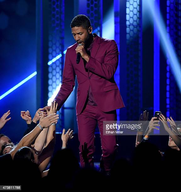 Actor/singer Jussie Smollett performs onstage during the 2015 Billboard Music Awards at MGM Grand Garden Arena on May 17 2015 in Las Vegas Nevada