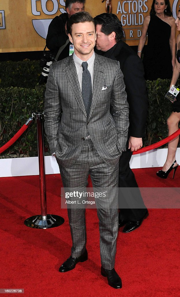 Actor/singer Justin Timberlake arrives for the 19th Annual Screen Actors Guild Awards - Arrivals held at The Shrine Auditorium on January 27, 2013 in Los Angeles, California.