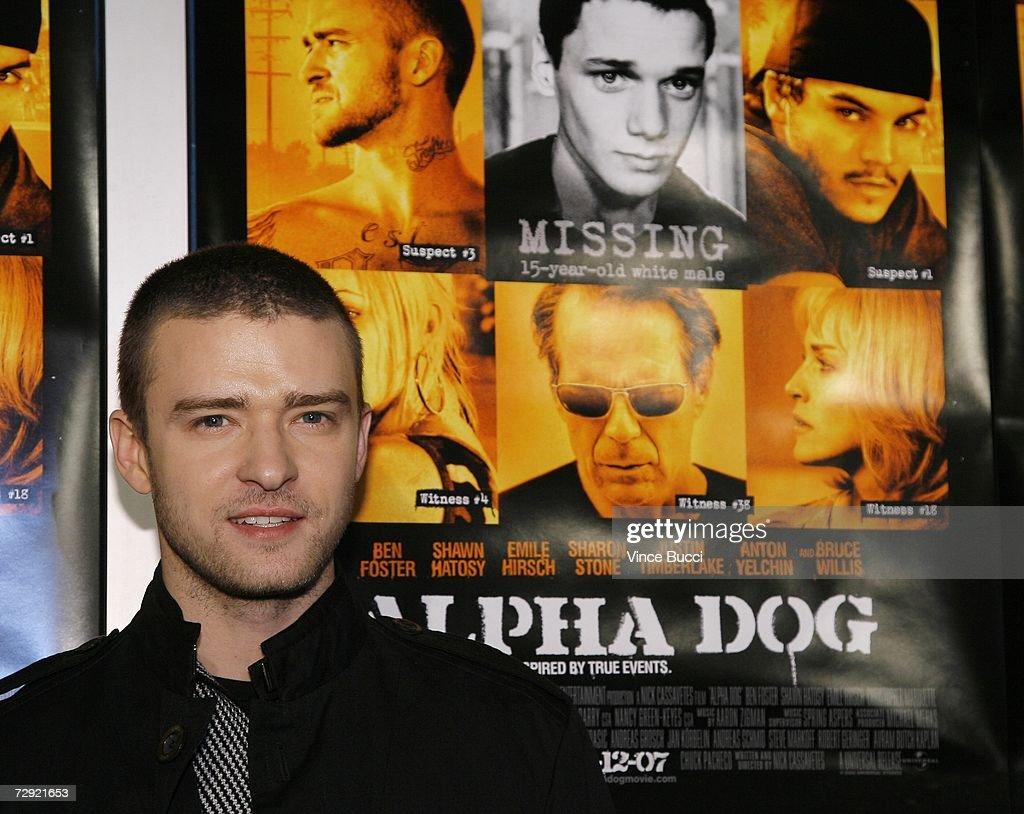 Actor/singer Justin Timberlake attends the premiere of the Universal Pictures' film 'Alpha Dog' on January 3, 2007 at the Arclight Theatres in Hollywood, California.