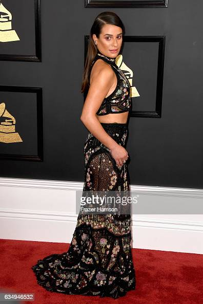 Actor/singer Lea Michele attends The 59th GRAMMY Awards at STAPLES Center on February 12 2017 in Los Angeles California
