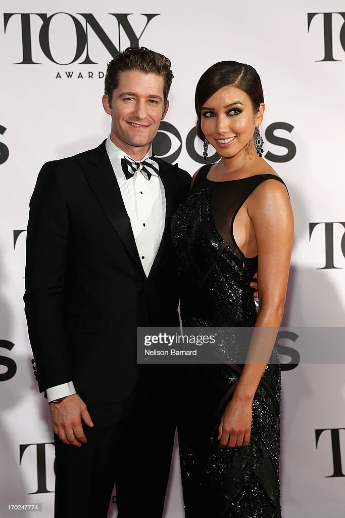 Actor/Singer Matthew Morrison and Renee Puente attend The 67th Annual Tony Awards at Radio City Music Hall on June 9 2013 in New York City