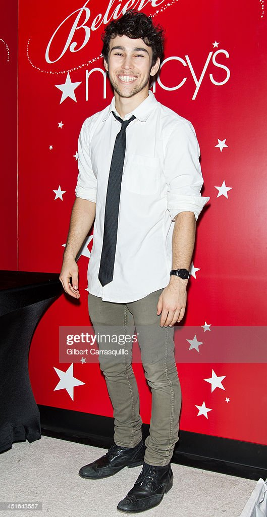 Actor/singer Max Schneider attends the 2013 Macy's Center City Holiday Windows Unveiling at Macy's Center City on November 23 2013 in Philadelphia...