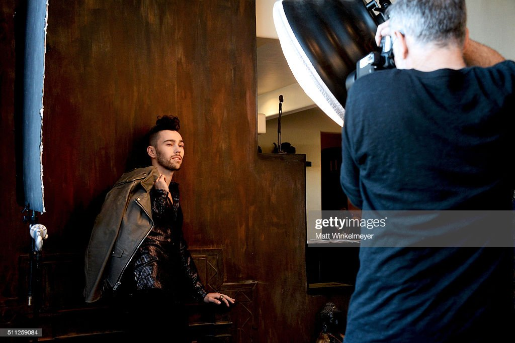 Actor/singer Max Schneider poses during a shoot for LaPalme Magazine on February 18 2016 in Studio City California