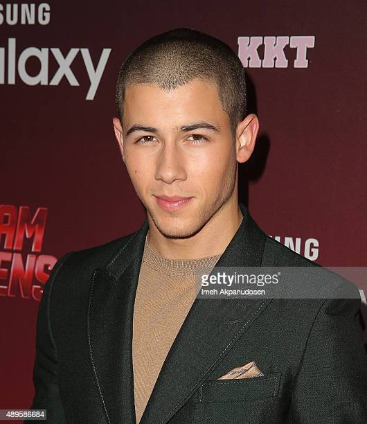 Actor/singer Nick Jonas attends the premiere of FOX TV's 'Scream Queens' at The Wilshire Ebell Theatre on September 21 2015 in Los Angeles California