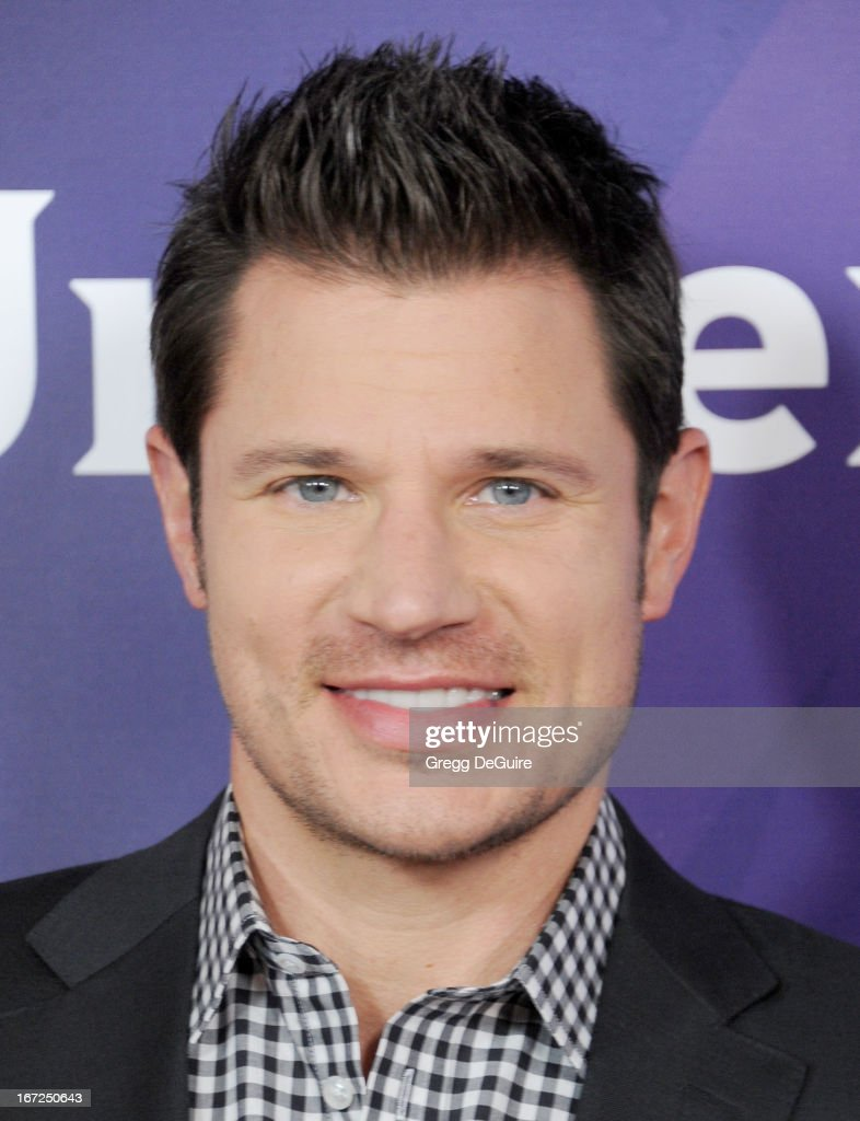 Actor/singer <a gi-track='captionPersonalityLinkClicked' href=/galleries/search?phrase=Nick+Lachey&family=editorial&specificpeople=201832 ng-click='$event.stopPropagation()'>Nick Lachey</a> arrives at the 2013 NBC Summer Press Day at The Langham Huntington Hotel and Spa on April 22, 2013 in Pasadena, California.